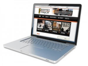 Steffey & Findlay website displaying on a laptop