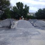 Piles of Crushed Stone