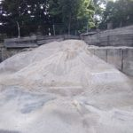 Washed Concrete Sand Pile